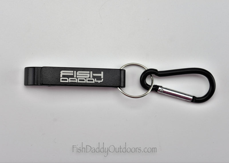 Bottle Opener with Carabiner Clip by FishDaddy