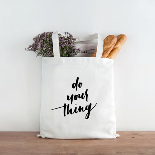Do your thing canvas tote bag