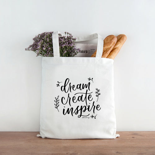 Dream. Create. Inspire | Canvas Tote Bag