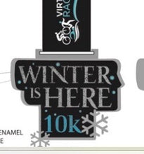 Close up artwork of winter is here medal