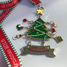 christmas tree advent medal virtual racing uk