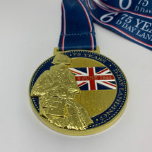 75 year d day medal virtual race bling