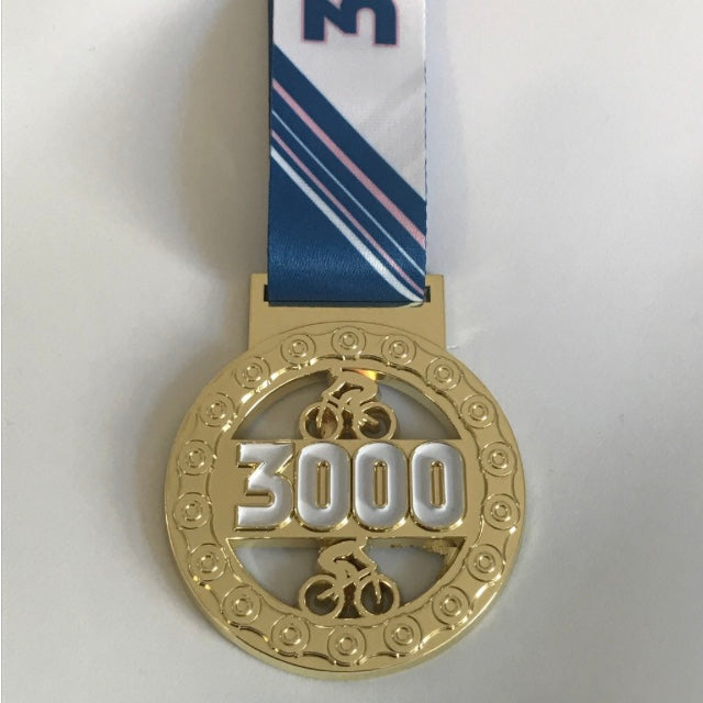 3000 DISTANCE CYCLE MEDAL