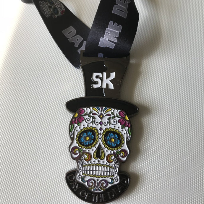 Day of the Dead Halloween Virtual Racing UK Medal