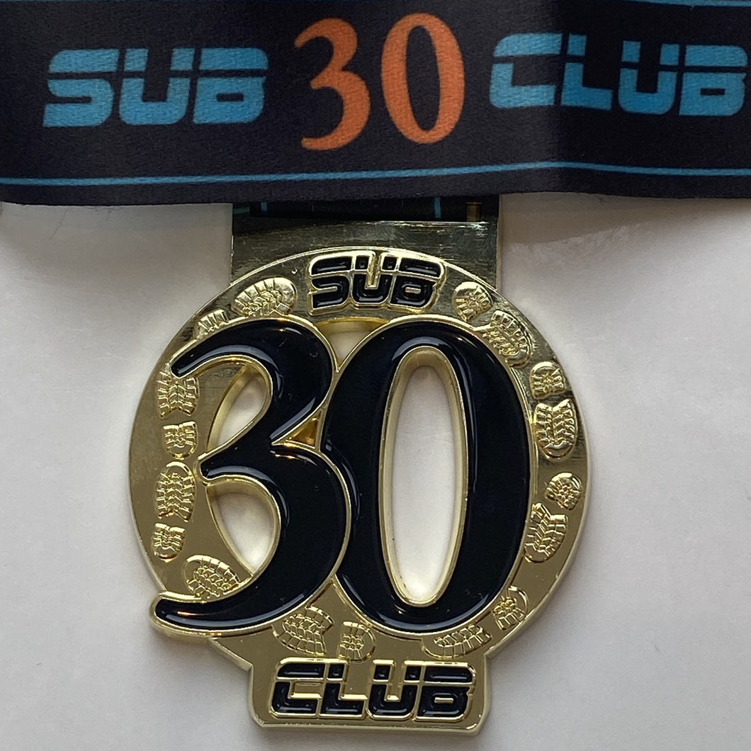 Sub 30 Club Virtual Medal