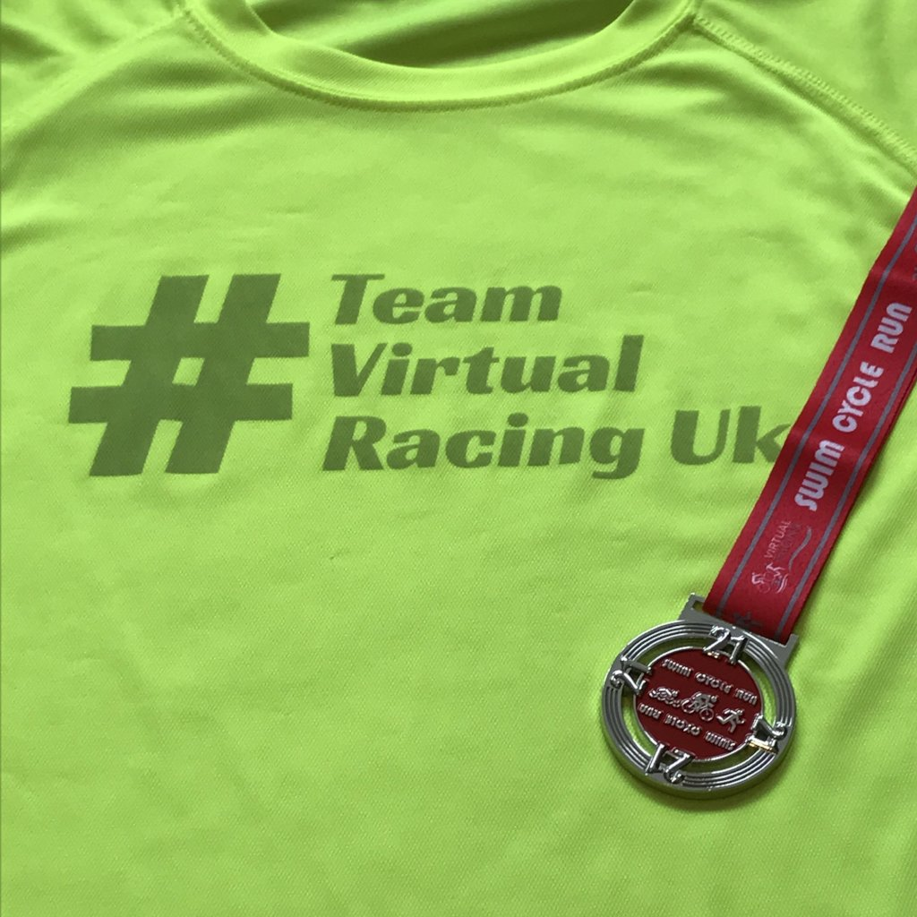 21 Medal & Team Virtual Racing UK Tee - Size XXL
