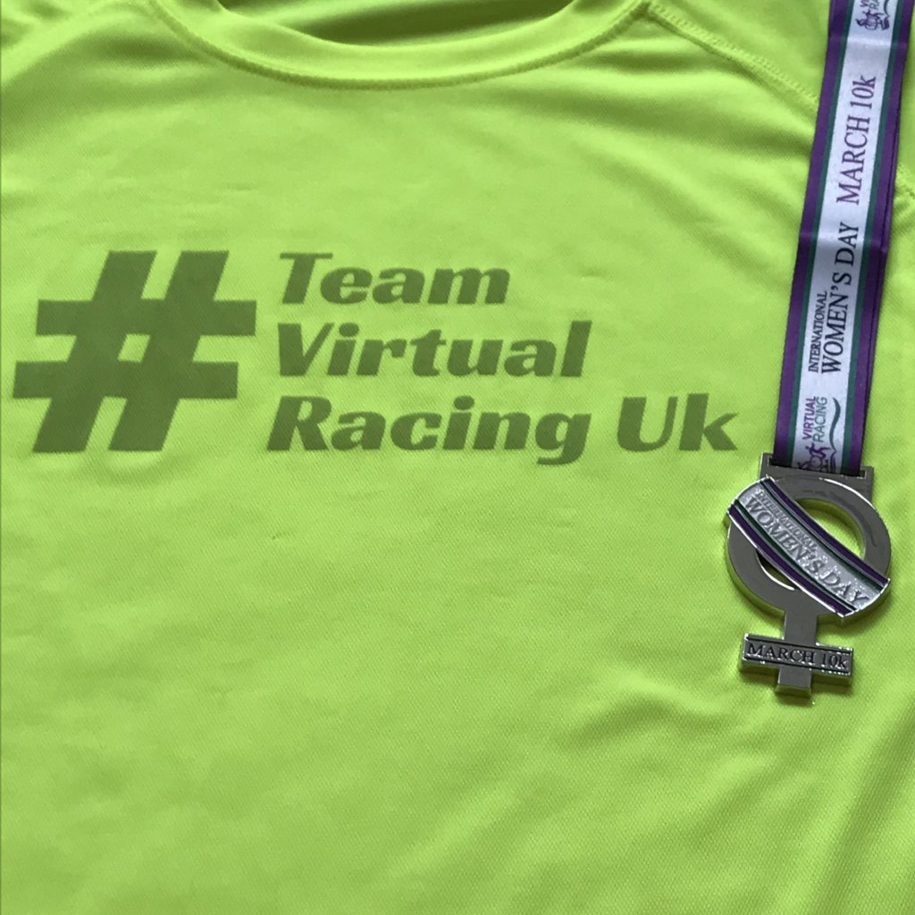 Women's Day Medal & Team Virtual Racing UK Tee - Size XXL