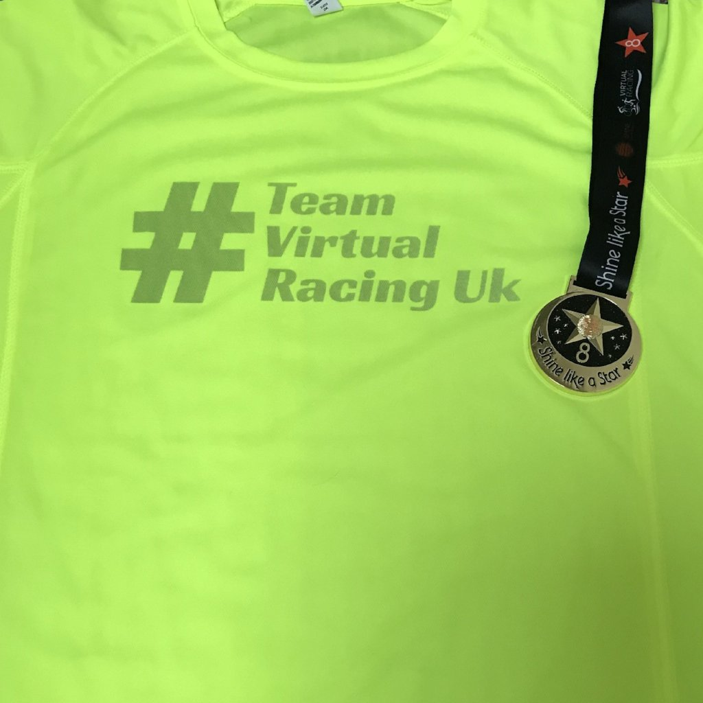 Shine Medal & Team Virtual Racing UK Tee - Size XXL