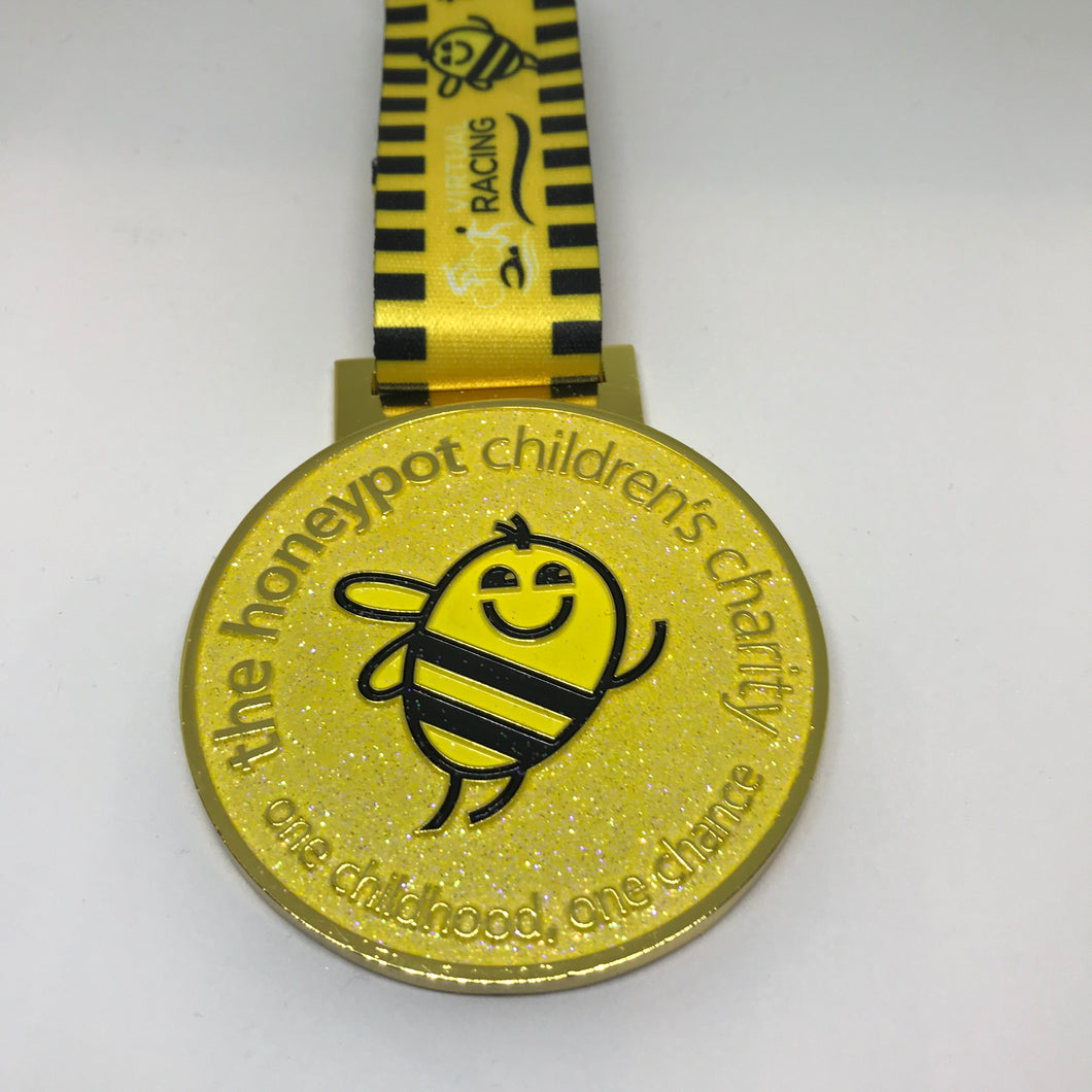 honeypot medal yellow glitter sparkles