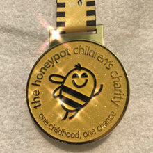 honeypot childrens charity virtual racing uk medal