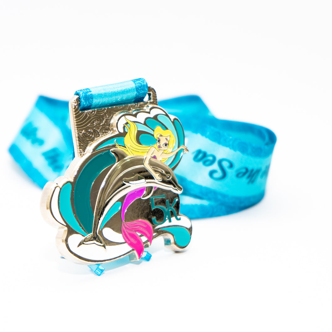 Mermaid dolphin 5k medal