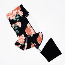 Blush Roses Summer Illusion Capri Leggings
