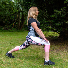 zebra shorts in use, hiit step workout