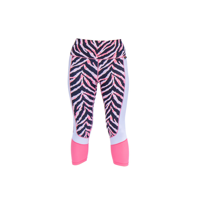Zebra animal print capri leggings