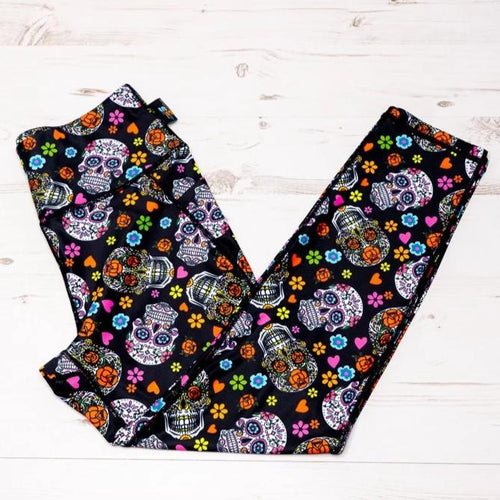 Sugar Skull Activewear Leggings