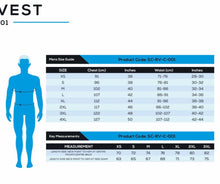 size chart virtual racing vests
