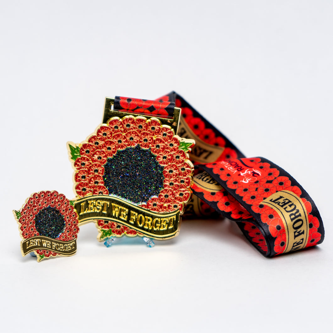 November - Armistice 11 option with matching pin badge