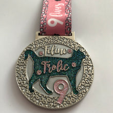 Feline Frolic Glitter Virtual Racing UK Medal