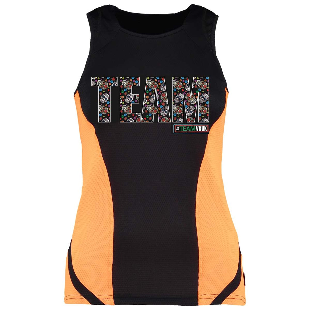 Sugar Skulls Vest Adult - Orange Panel