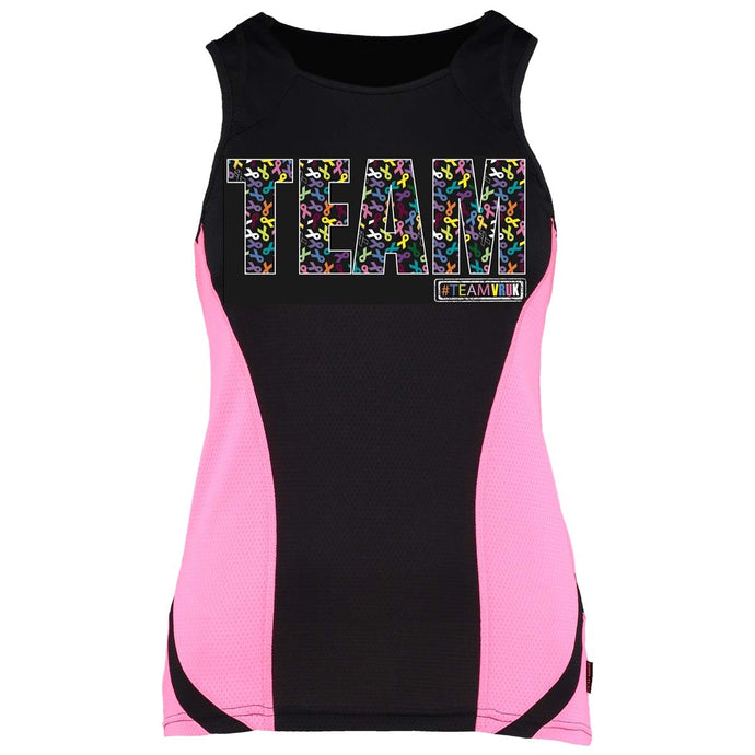 Ribbons Vest Adult - Pink Panel