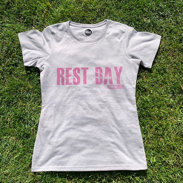 TeamVRUK Ladies Grey Rest Day Fitted Tee