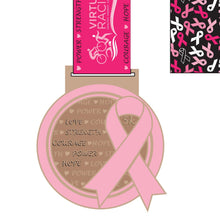 October 5K Run To Prevent - medal and matching pin badge
