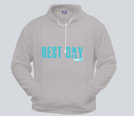 rest day unisex grey hoody