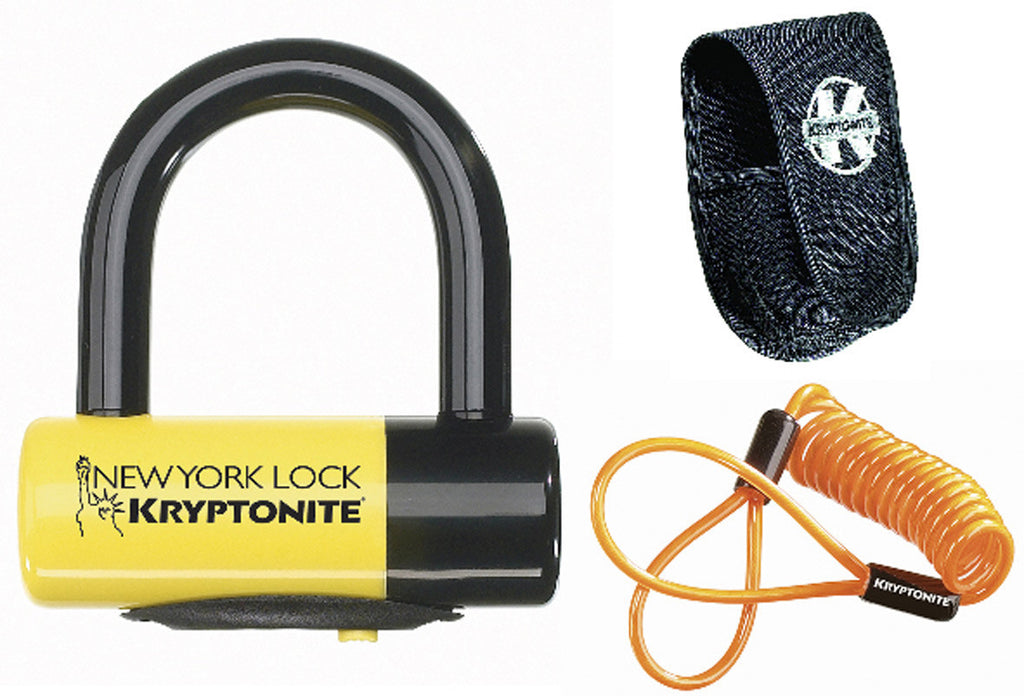 Kryptonite New York Liberty disc Bike lock - with reminder cable - yellow