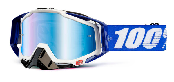 100% Racecraft Cobalt Blue Mirror MTB Goggles