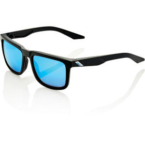 100% Glasses Blake - Matt Black - HiPER Blue Mirror Lens