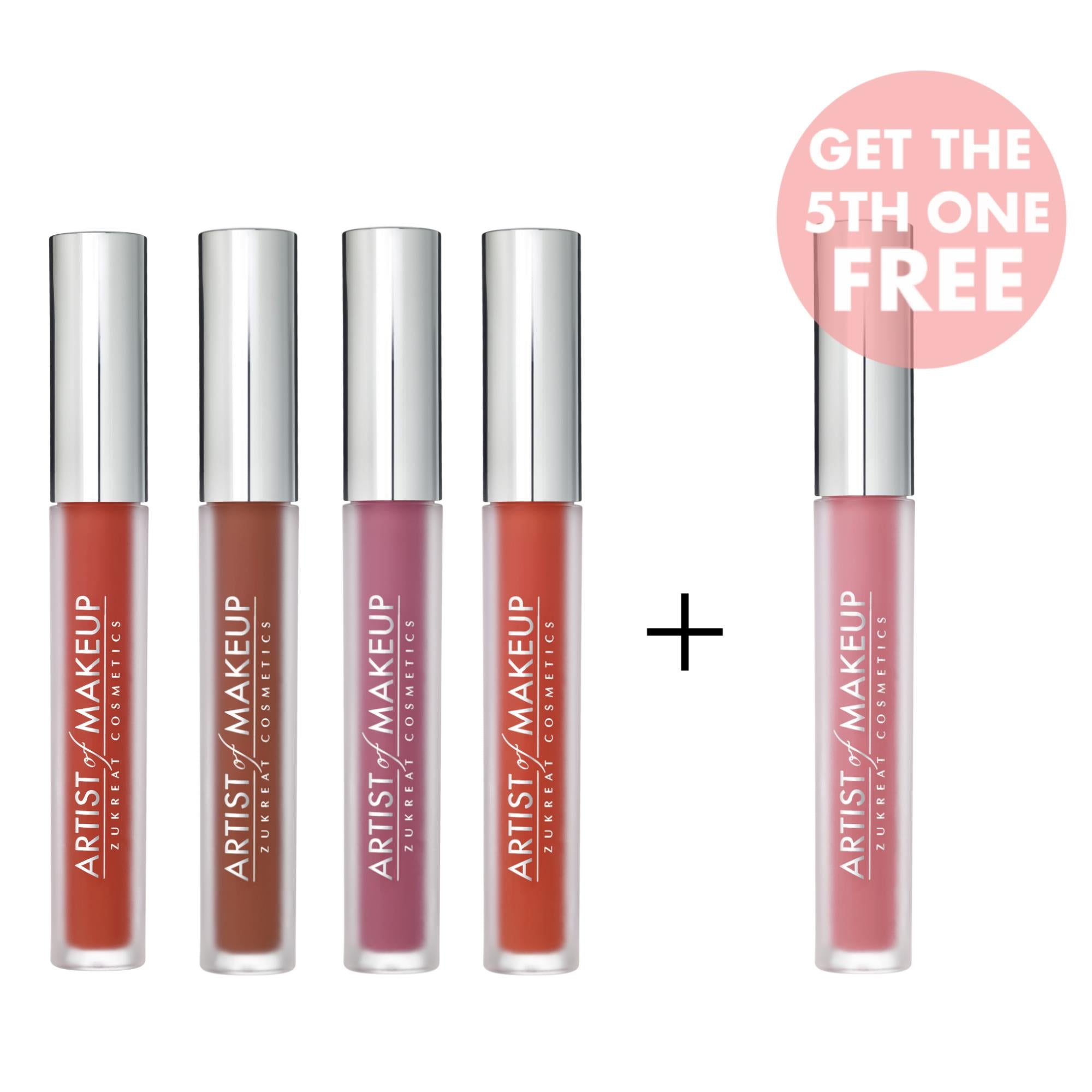 4 Liquid Lipsticks + 1 FREE