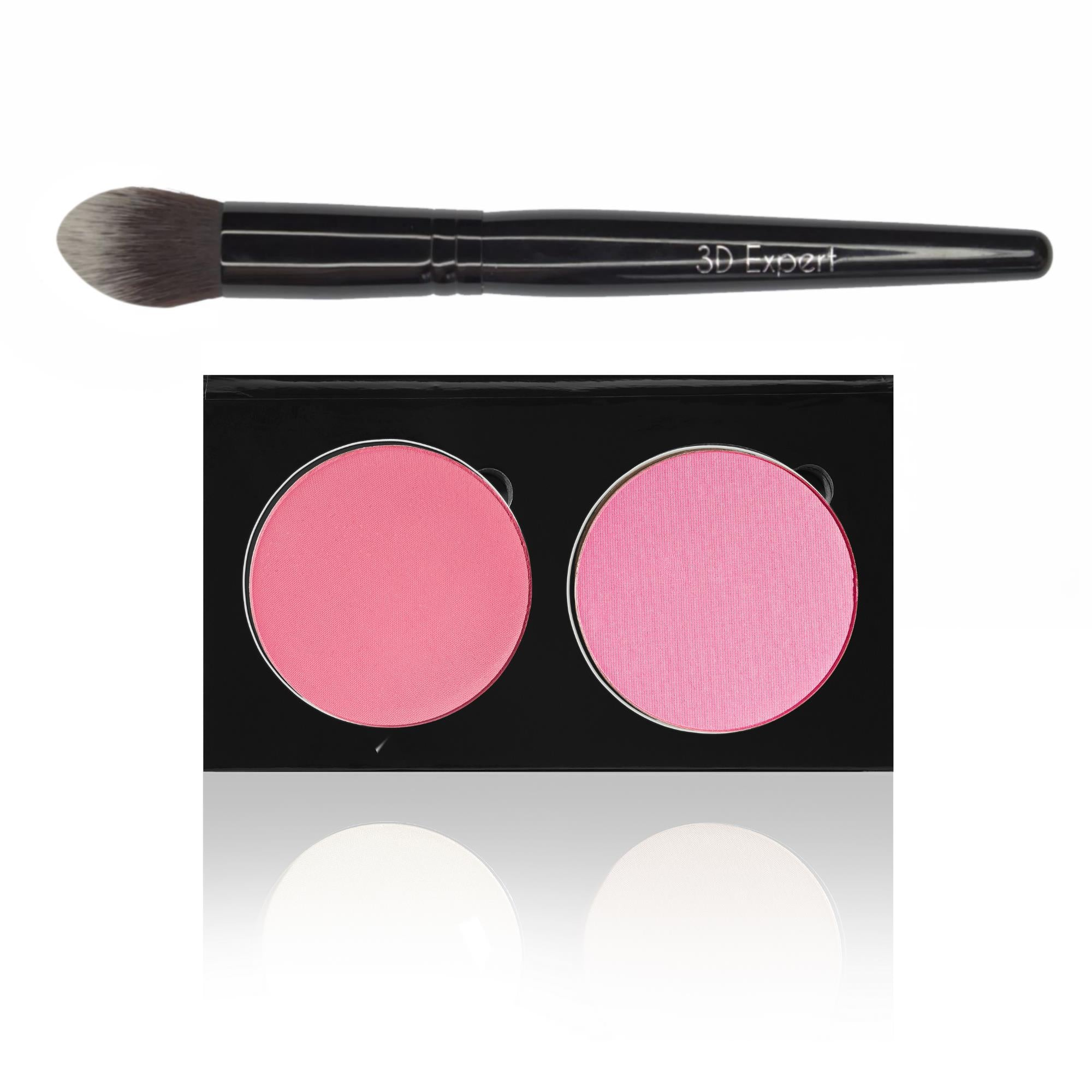 ALLURING / DAINTY DOLL - BLUSH DUO PALETTE AND 3D EXPERT BRUSH SET