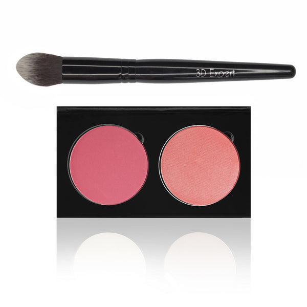 RAZZLE DAZZLE / DESERT ROSE - BLUSH DUO PALETTE AND 3D EXPERT BRUSH SET