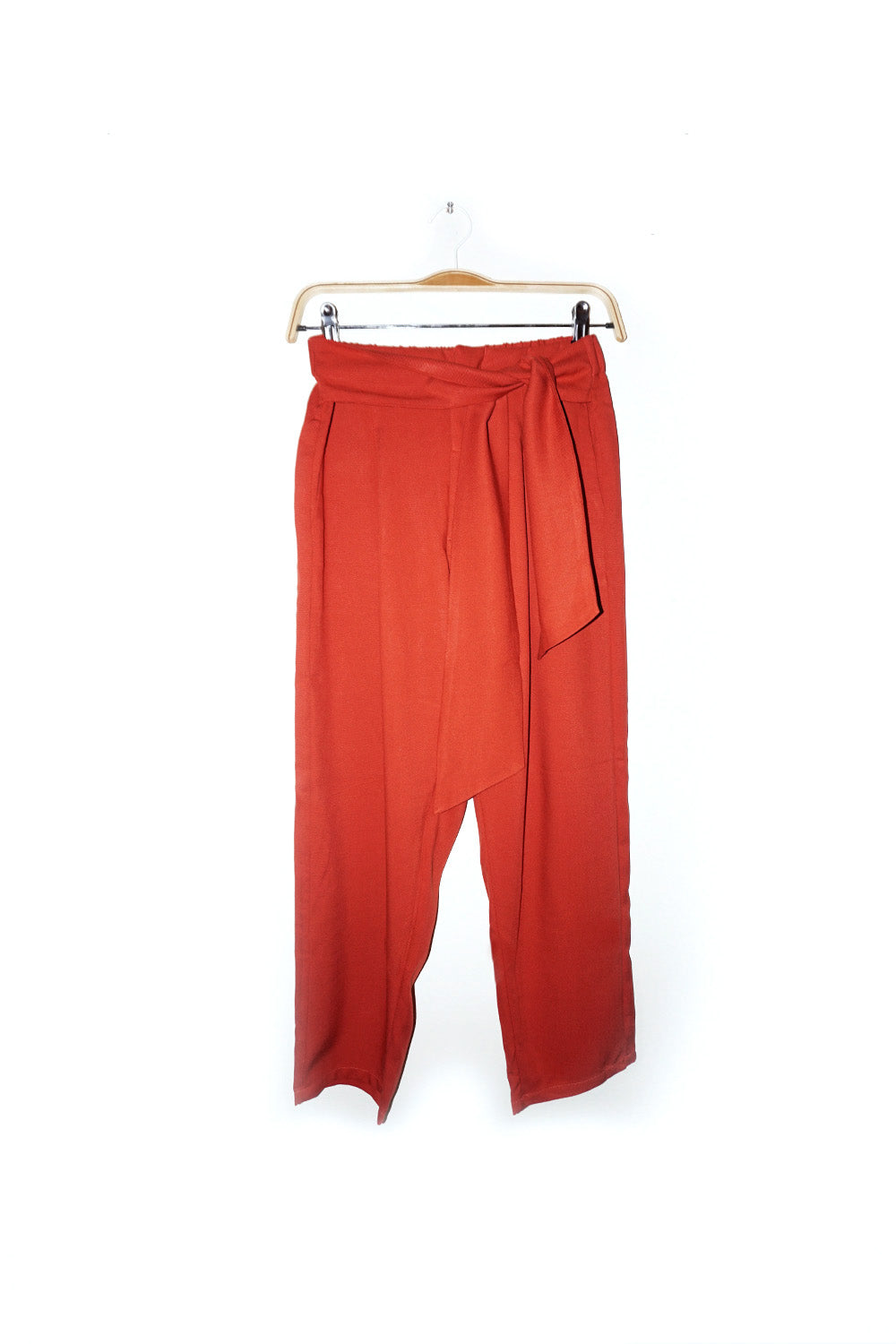 Jorja Pants with tied front details linen Celana relaxed fit dengan detail ikat di tengah