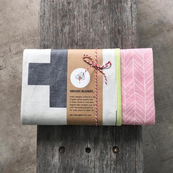 Gift wrapped Organic Cotton Blanket-Swaddle Wrap for Baby