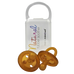 NATURAL RUBBER SOOTHER ROUND DUMMY | TWIN PACK