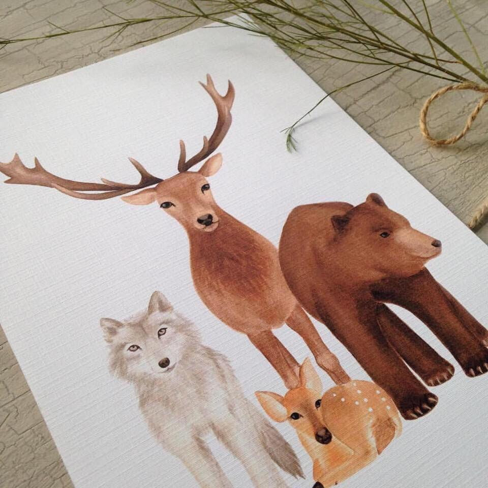 woodland-animal-nursery-art-prints-jo-collier