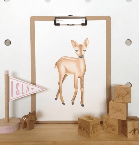 the-wiggle-tree-woodland-nursery-art-print-deer