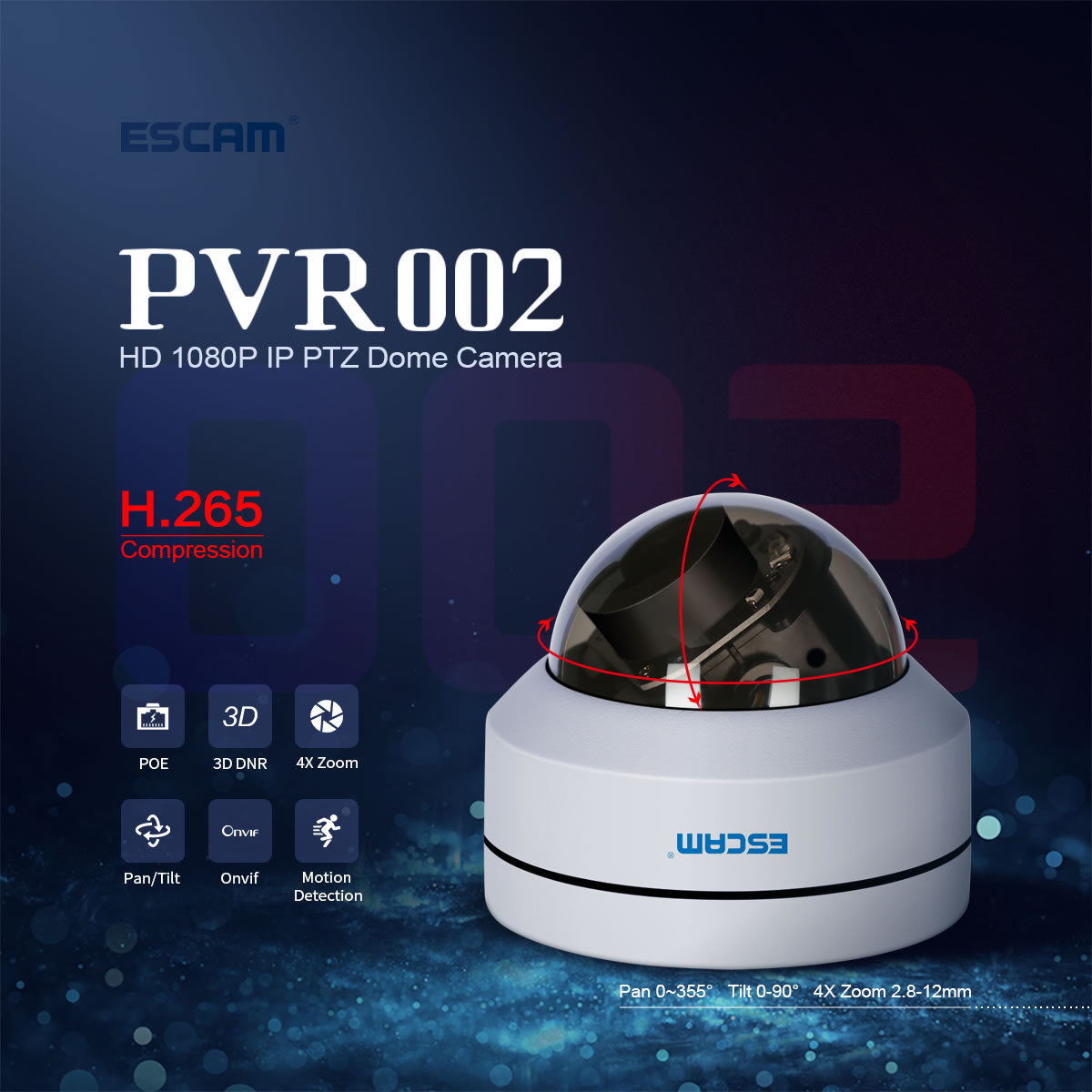 ESCAM PVR002 IP Camera