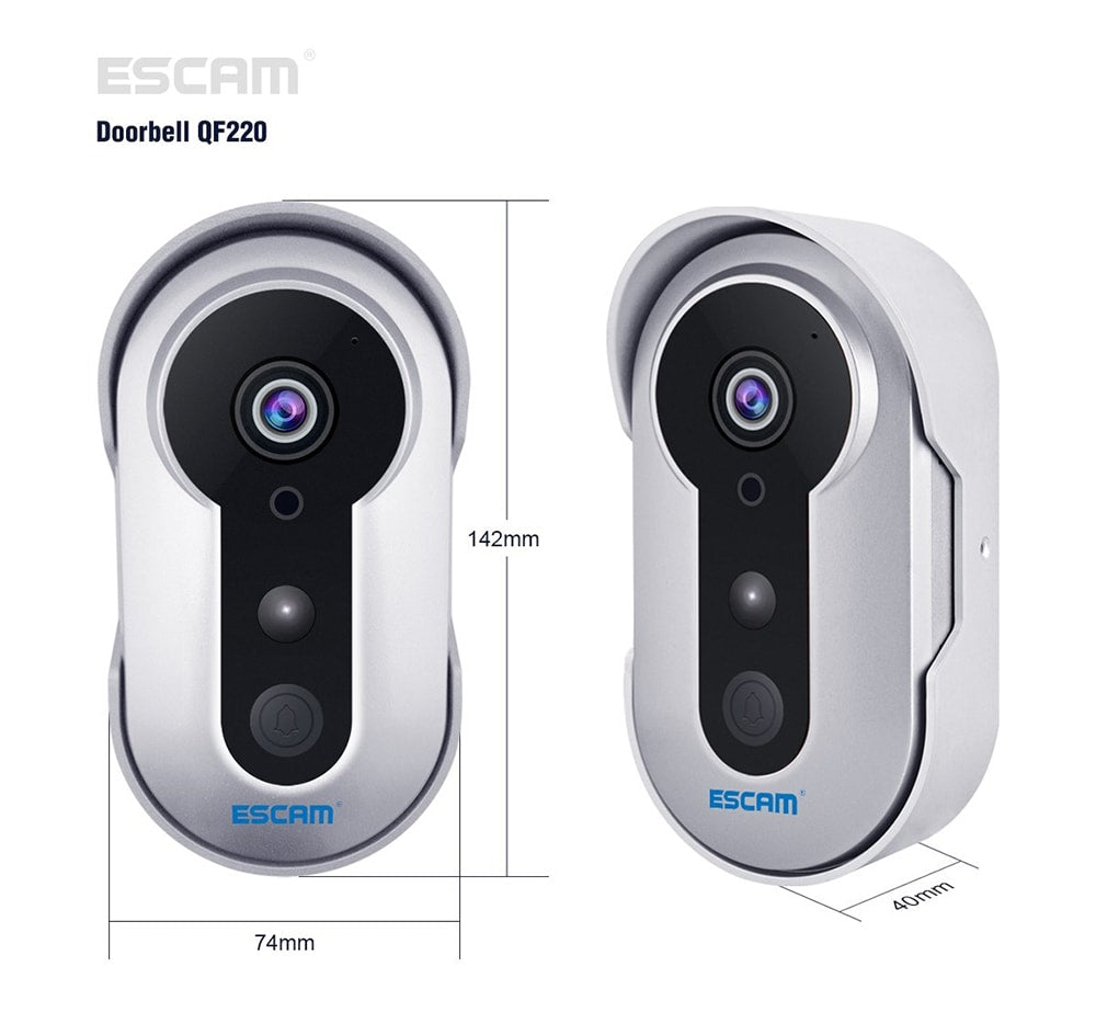 ESCAM QF220 Smart IP doorbell Camera