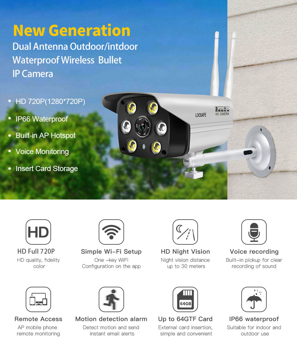LOOSAFE HD Home Security IP Camera 1