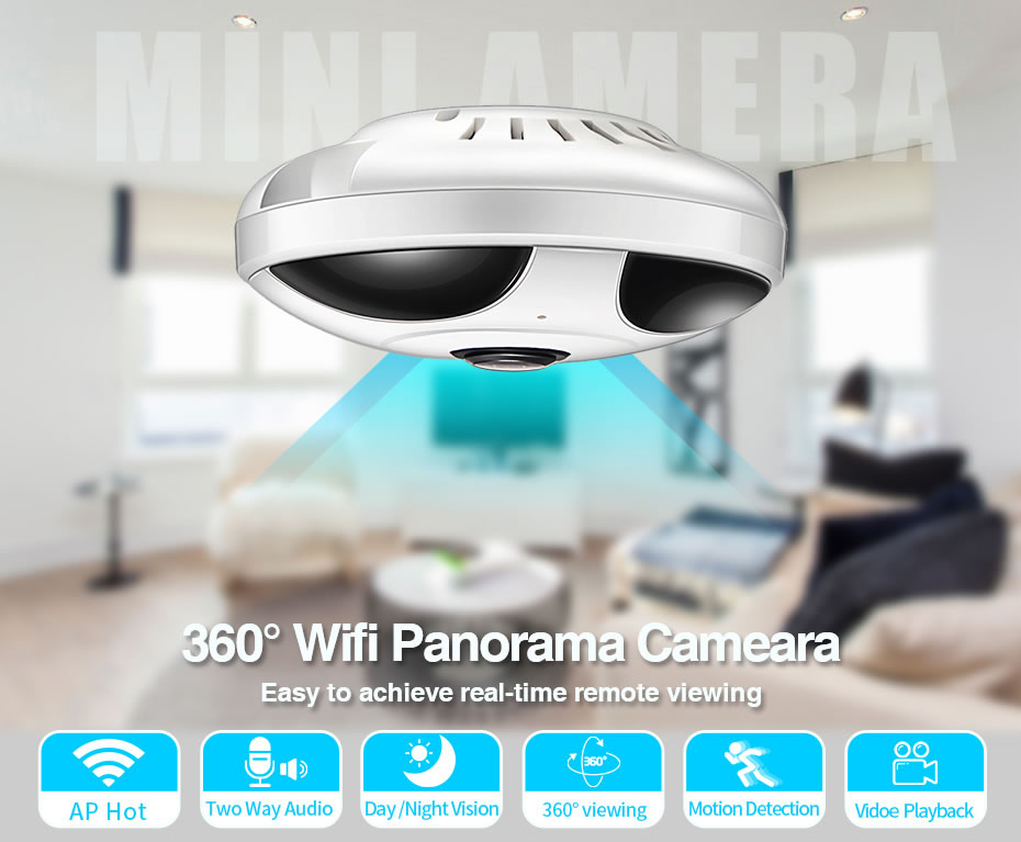 Loosafe 360 Degree Panoramic Wireless Camera