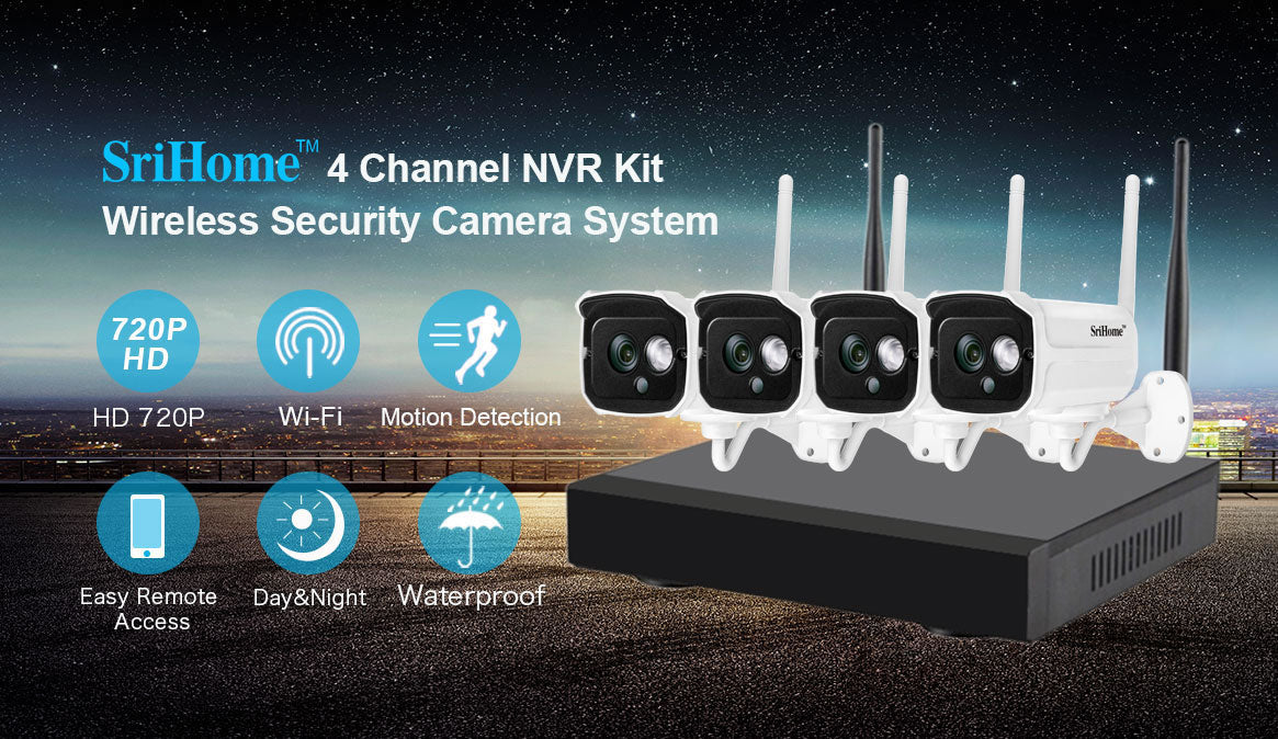 Sricam Wireless NVR Security Camera Systems
