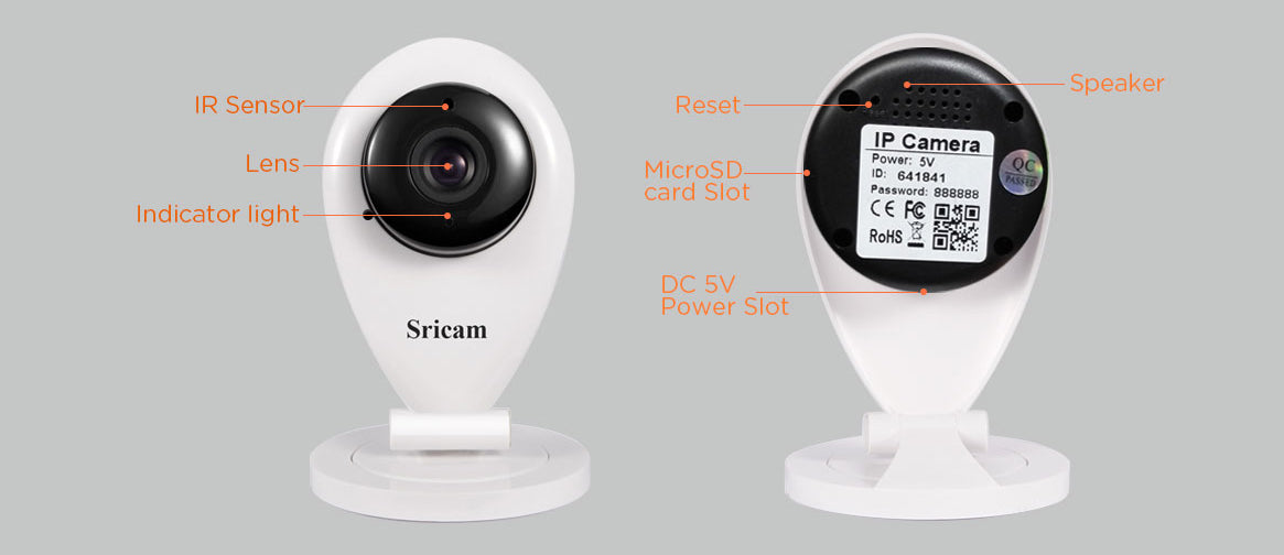 Sricam SP009 Mini IP Camera