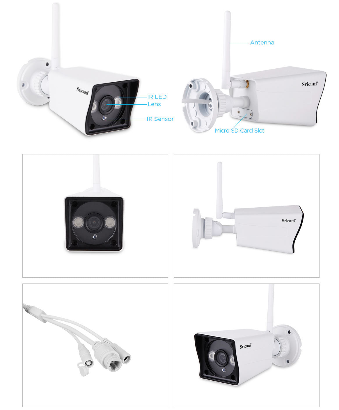Sricam SP023 1080P Outdoor IP Camera