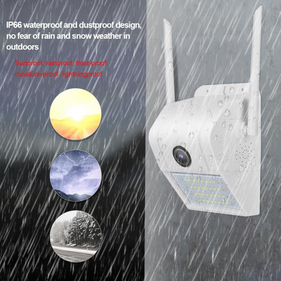 V380 1080P 2MP 32pcs white LED Sense LED Courtyard light camera  Wall-Mounted security IP camera