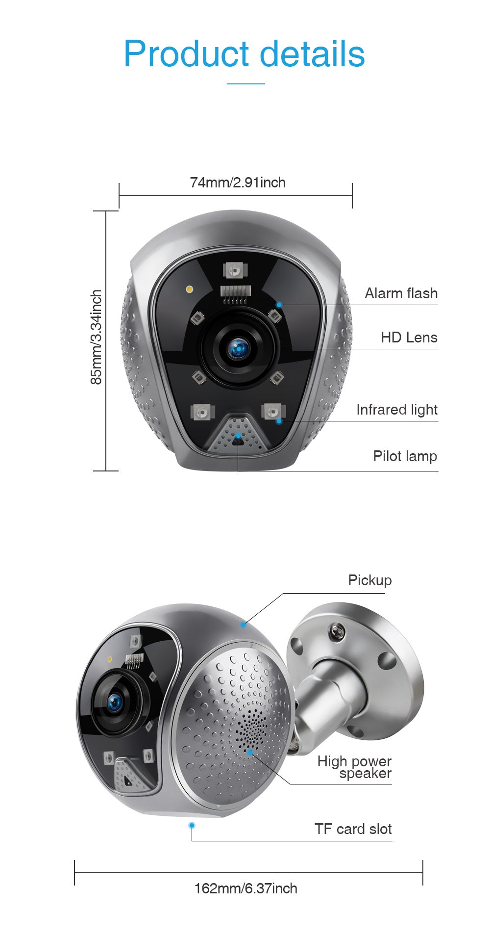 V380 1080P Home Security 120 Degree Wide Angle Camera