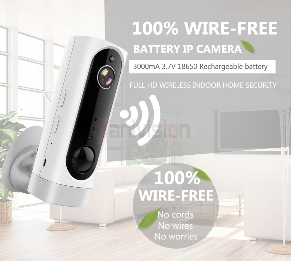 V380 1080P  XMEey ICSee WiFi Battery Camera