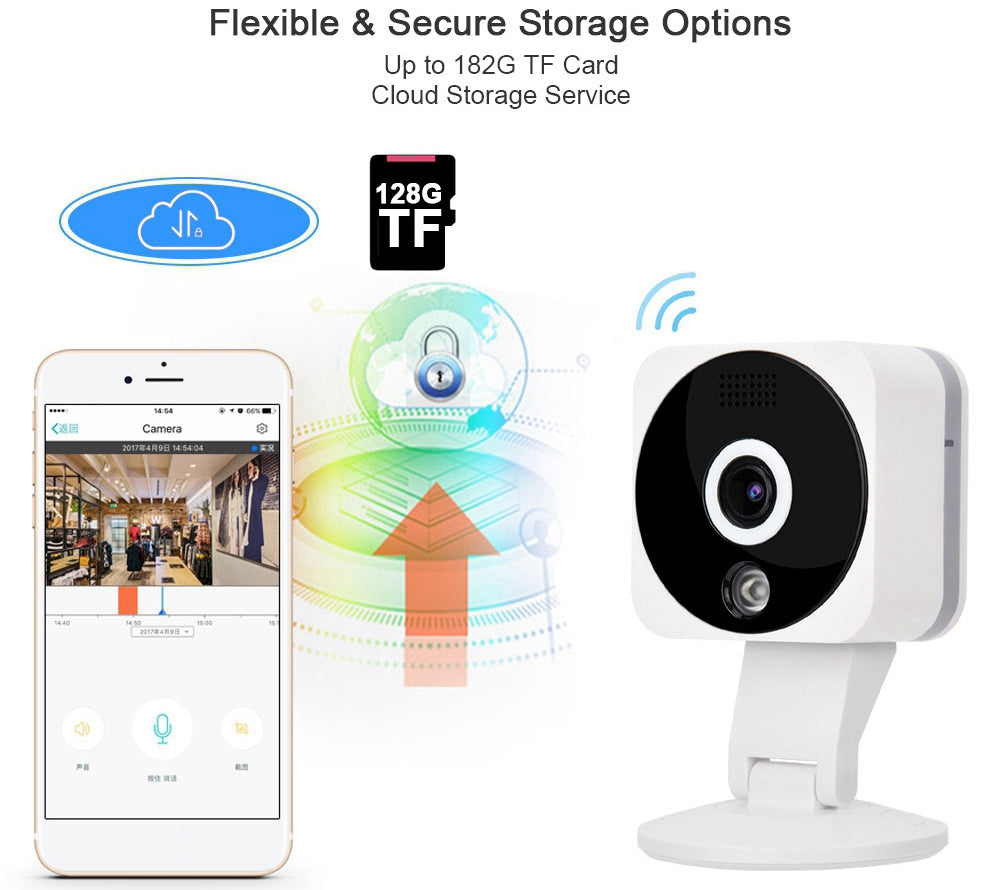 V380 2MP 1080P  IR Night Vision Motion Detection Waterproof WIFI IP Camera Home Security Baby Monitor