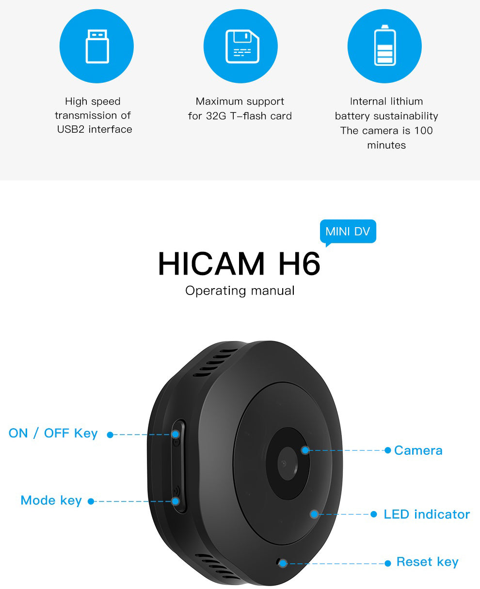V380 2MP HD 1080P 150°wide angle IR Night Vision Motion Detection Magnetic Wifi Mini Security Camera